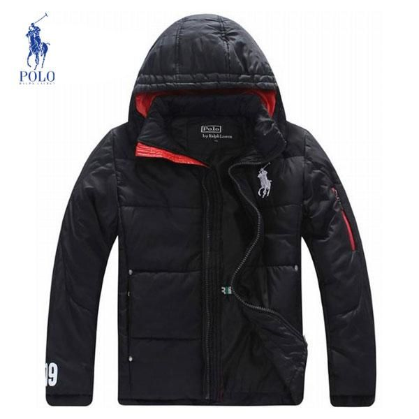 Chaquetas Polo Hombre XO55 Campera Polo Ralph Lauren Hombre Color Puro  Negro Con Capucha y Mejor