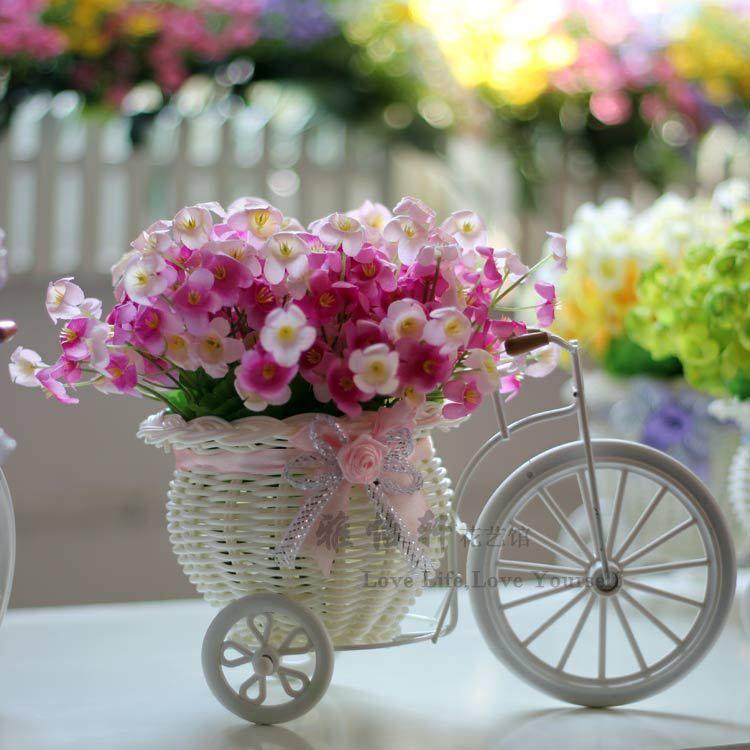 Bicycle, Basket, Flowers.