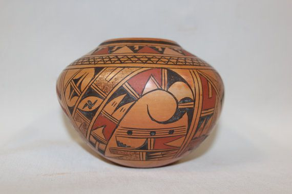 150. Native American Hopi Pottery Jar signed by by CulturalPatina