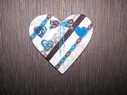 Petit COEUR BOIS customisé avec des rubans, papiers scrap' et appliques bois peintes Ƹ̵̡Ӝ̵̨̄Ʒ Nouillelfique