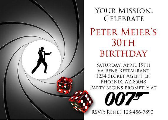 Google jamesbondpartyinvitescouk – James Bond Party Invites