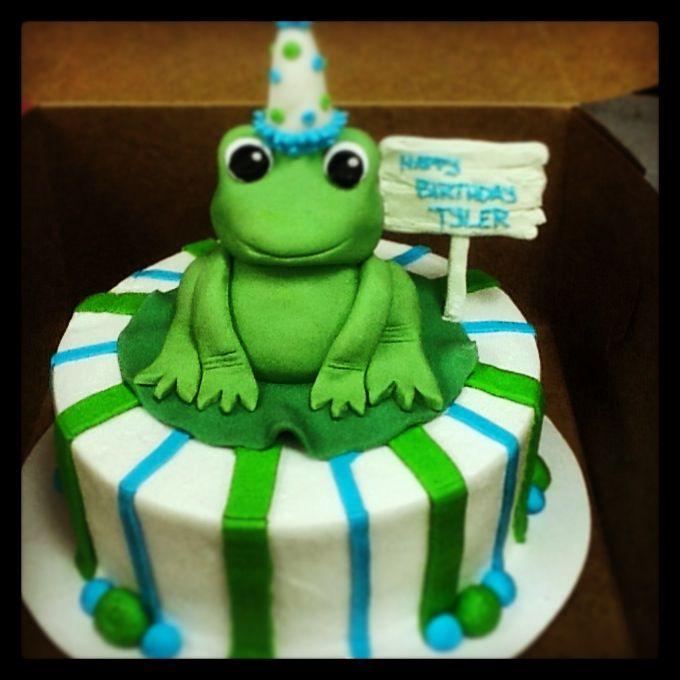 Wondrous Fondant Frog Cake With Images Frog Cakes Kids Cake Birthday Funny Birthday Cards Online Necthendildamsfinfo