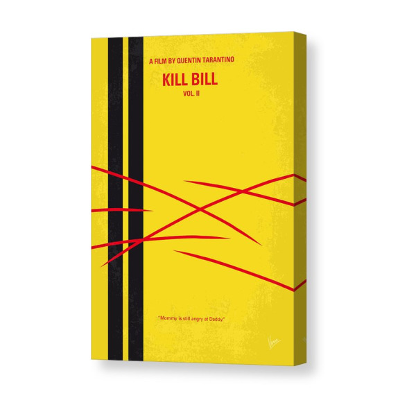 No049 My Kill Bill Part2 Minimal Movie Poster Canvas Print Products Canvas Prints Minimal Movie Posters Movie Posters