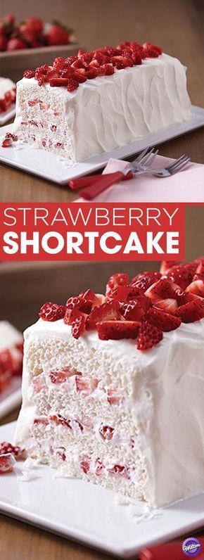 Strawberry Shortcake Recipe   Layer Fresh Strawberries, Angel Food Cake,  And Whipped Cream For