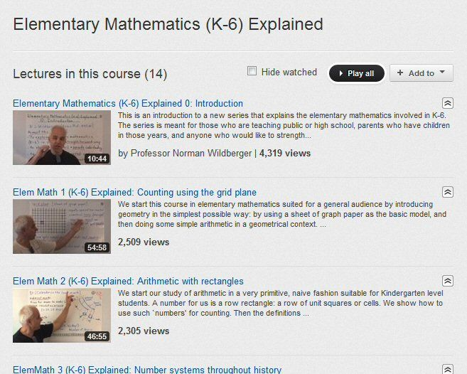 Elementary Math K-6 Feel like learning mathematics from the ground ...
