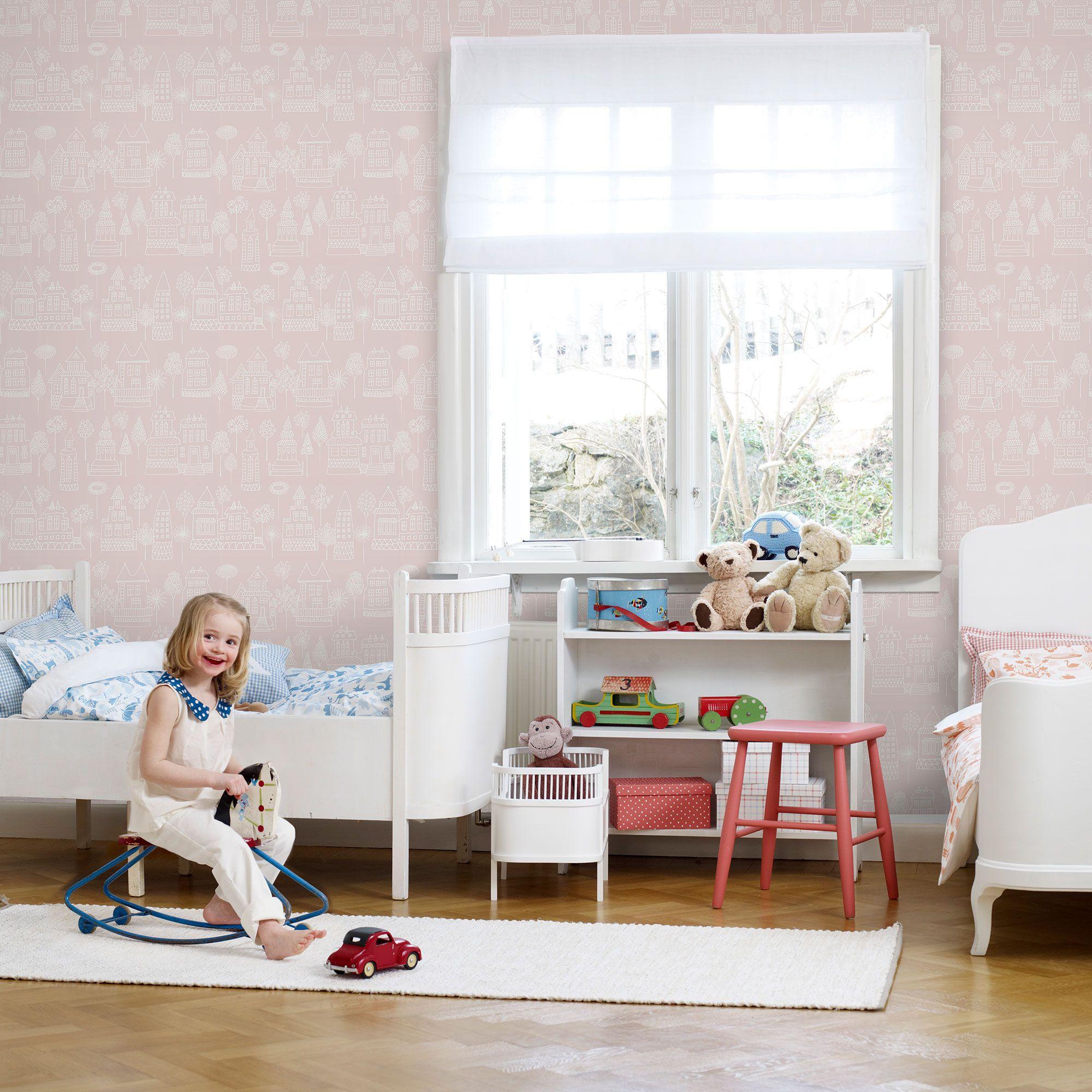 Bright hallway wallpaper  Wallpaper Kaspar Light pink  Sandberg Wallpaper  for eleanorus
