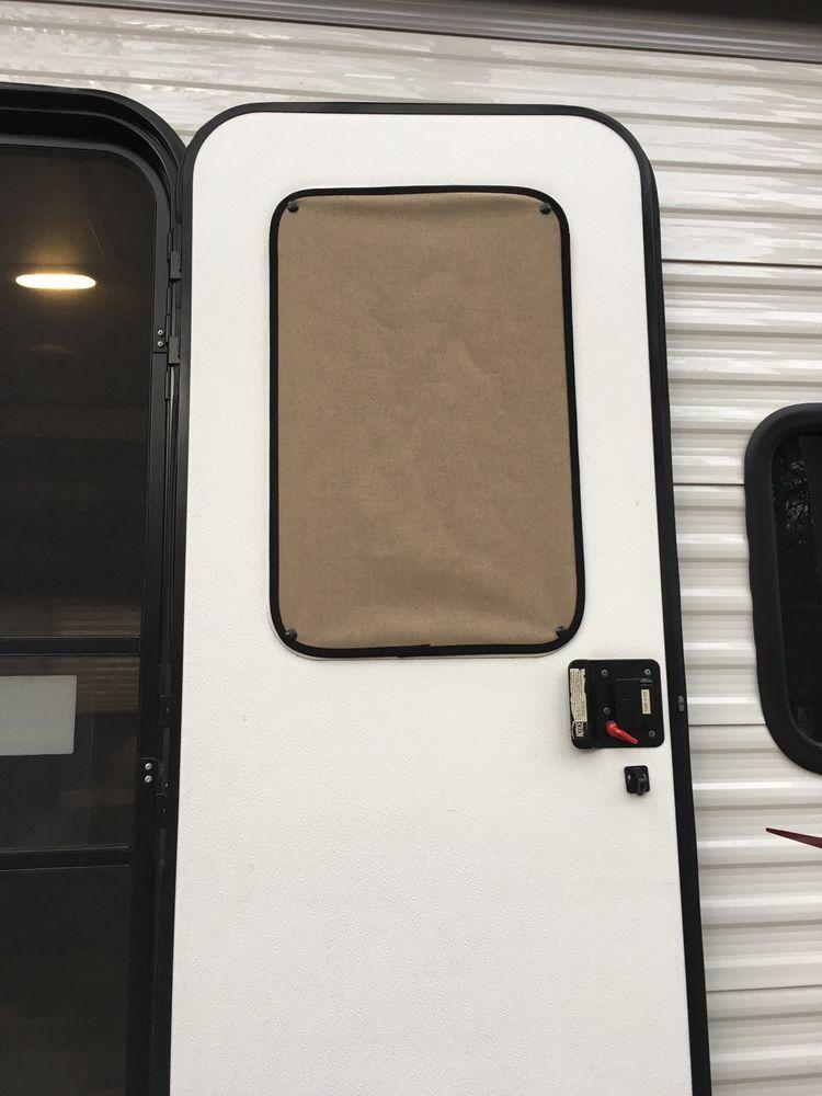 Rv Door Window Sunshade Privacy Shade Rv Curtains Privacy Shades Camper Windows