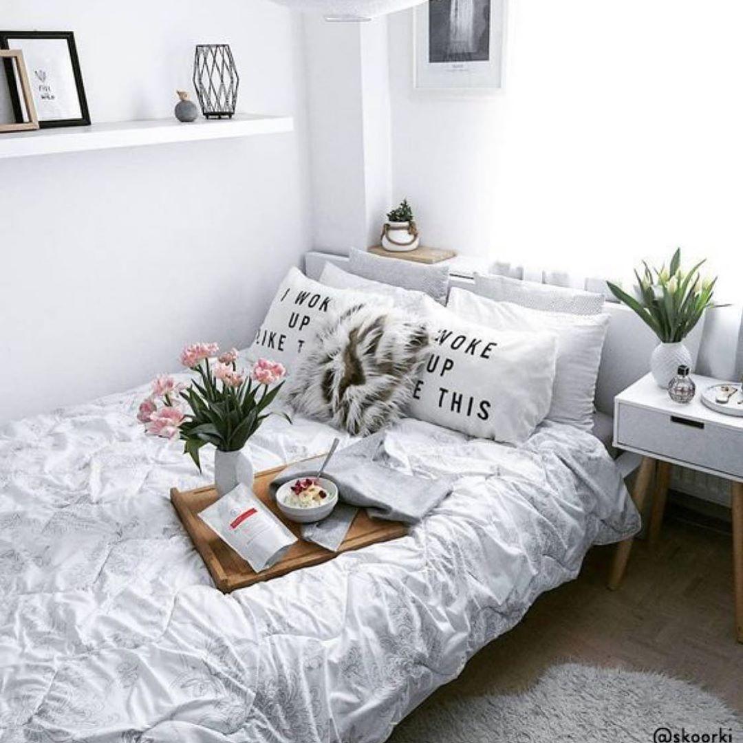 ديكور ديكورات غرف نوم تصميم افكار ديكور ديكورات داخلية سرير كنب تسريحة غرفة نوم Decor Modern White Bed Home Decor Trendy Home