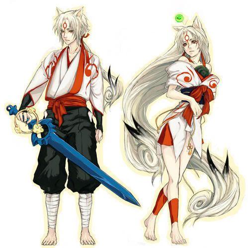 Girl Boy Fox Amaterasu Anime Fox Boy Cosplay Anime