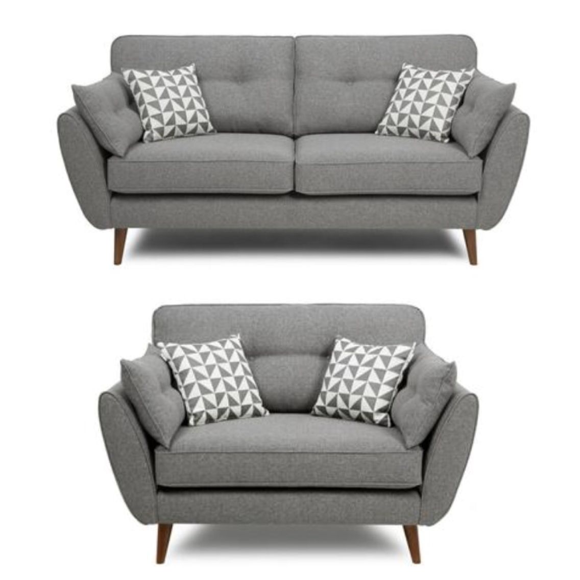 French Connection Grey Sofa And Cuddle Chair Retro Sofa Living Room Decor Gray Grey Retro Sofa