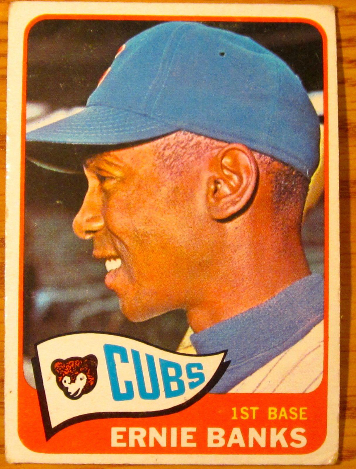 1965 Topps Ernie Banks 510 | eBay #sportsmemorabilia #worldserieschampions #majorleaguebaseball #baseballcards