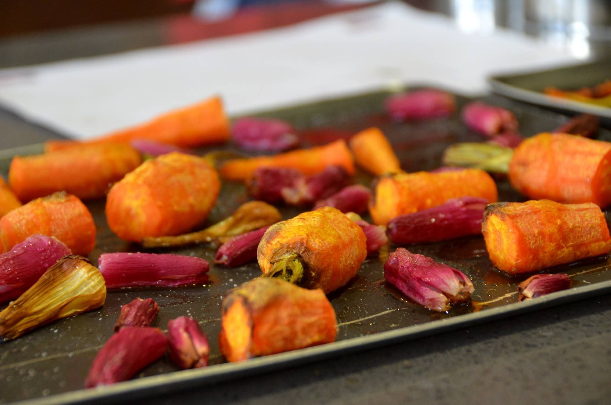 Roasted Carrots and Radishes Market Cooking Class La