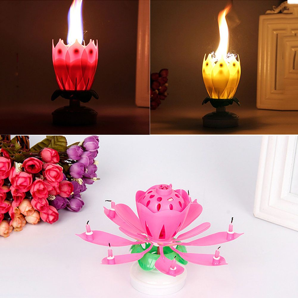 Lotus flower candle cake topper musical rotating candles decor lotus flower candle cake topper musical rotating candles decor birthday party izmirmasajfo