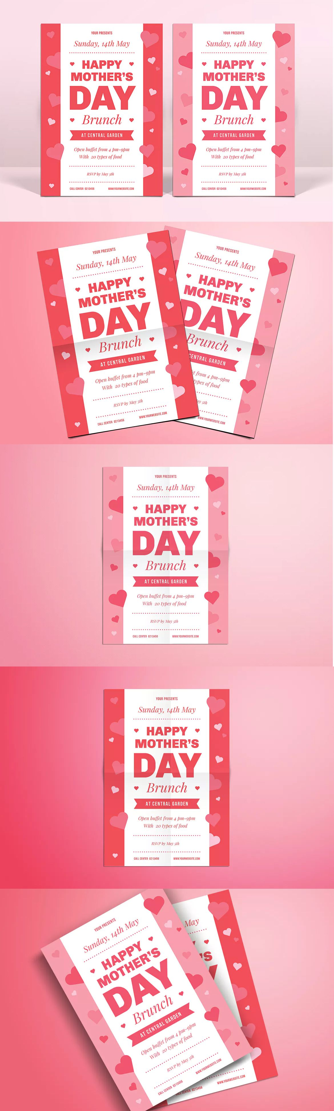 Mothers Day Brunch Flyer Template Ai Psd  A  Flyer Design
