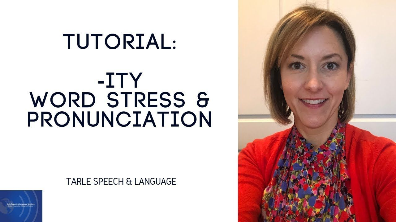 Tutorial: Word Stress - How to Stress & Pronounce the suffix