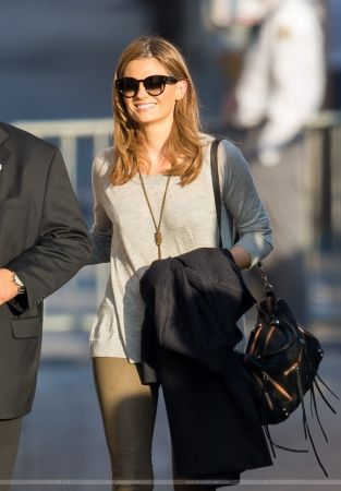 #StanaKatic arriving at Jimmy Kimmel Live (2015)