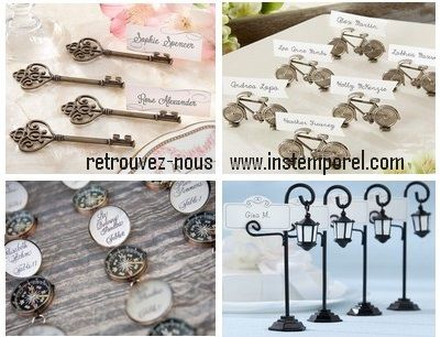 Porte noms r tro mariage marque place pinterest for Porte nom original