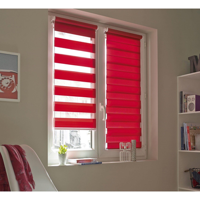 Store Enrouleur Jour Nuit Inspire Rouge Rouge N 3 124 X 190 Cm Avec Images Store Enrouleur Jour Nuit Store Jour Nuit Store Enrouleur