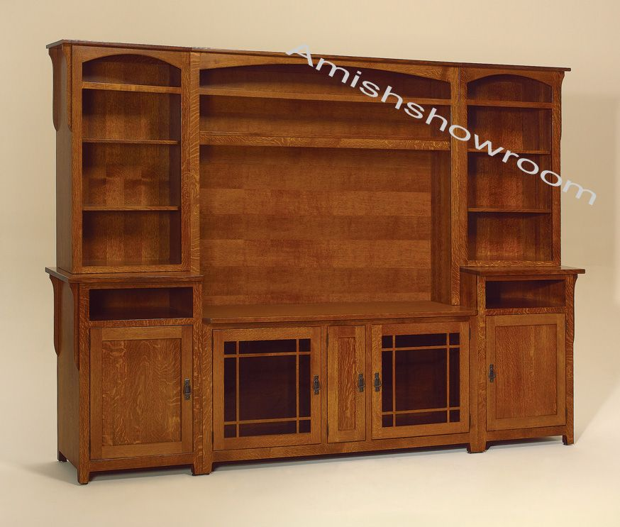 Amish Entertainment Centers | Landmark TV Wall Unit | For ...