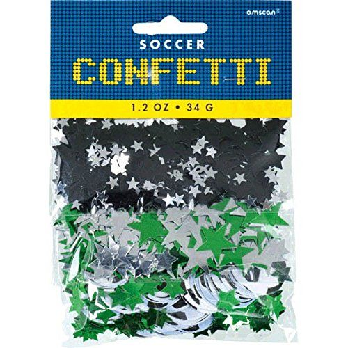 Amscan Awesome Soccer Themed Party Confetti Pack 12 oz GreenSilverBlack >>> See this great product.Note:It is affiliate link to Amazon.