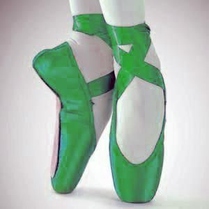 urgent bluegreen yellow pointe shoes pointe shoes