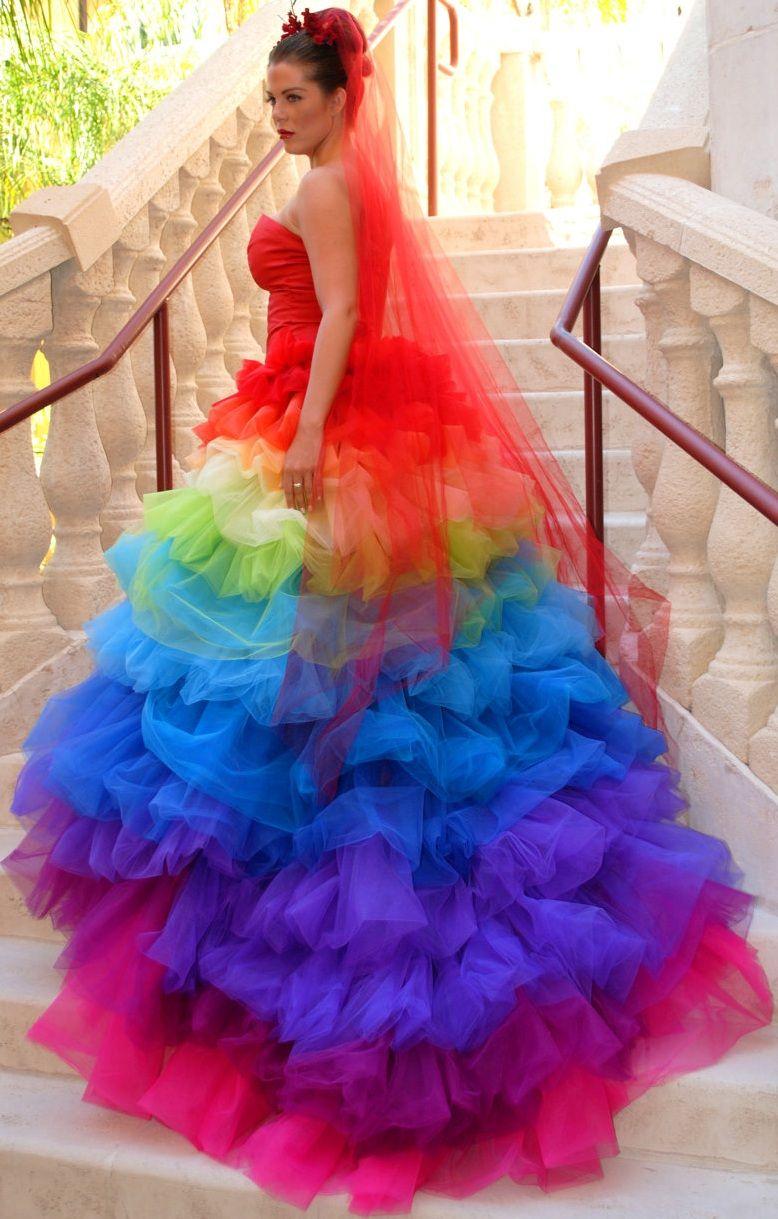 rainbow tulle + layers [Ricky Lindsay Esperanza Haute Couture