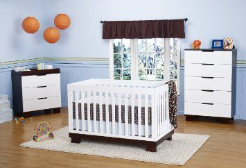 Babyletto Modo 3 In 1 Crib With Toddler Rail, Two Tone: Baby