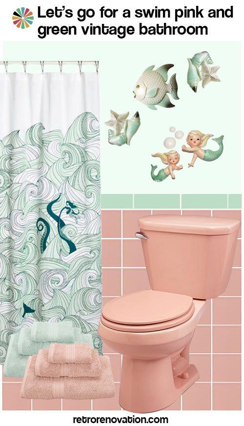 Ideas To Decorate A Pink Bathroom Using Classic Kitsch Designs Rental Bathroom Makeover Pink Bathroom Pretty Bathrooms
