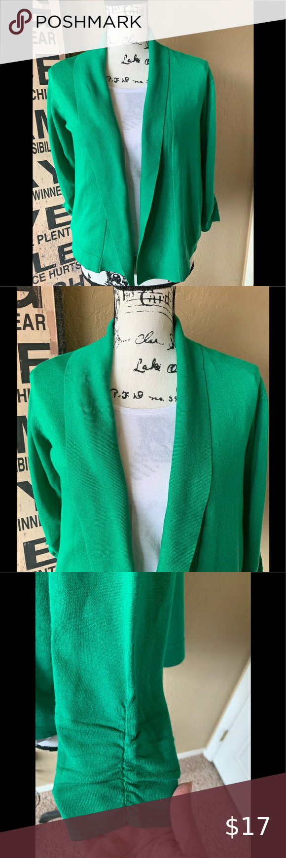 Check out this listing I just found on Poshmark: Kelly Green sweater. #shopmycloset #poshmark #shopping #style #pinitforlater #Love Scarlett #Sweaters