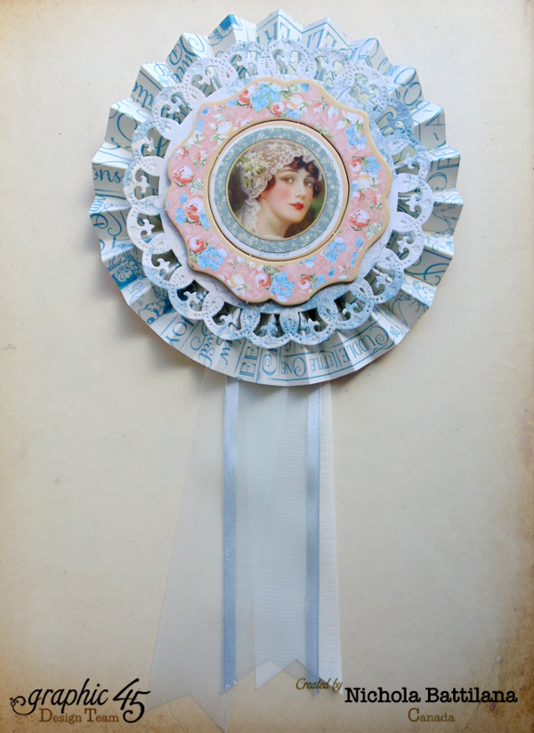 Mother's Day Precious Memories rosette from Nichola #graphic45