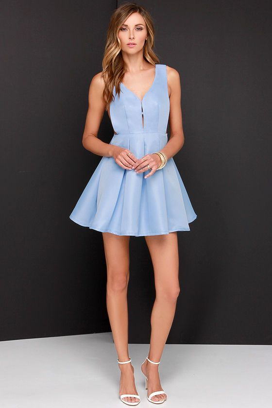 Hopes and Dreams Powder Blue Skater Dress | Powder, Hopes and ...