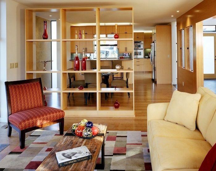 Séparation cuisine salon \u2013 coulissez une porte ouverte Modèles de