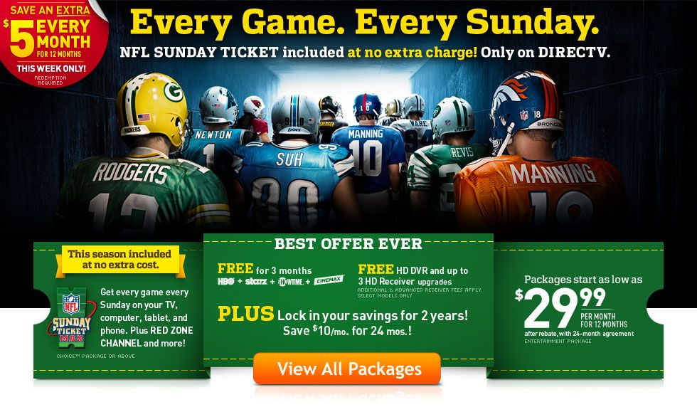 Are you ready for some football??? Directv, Tv deals