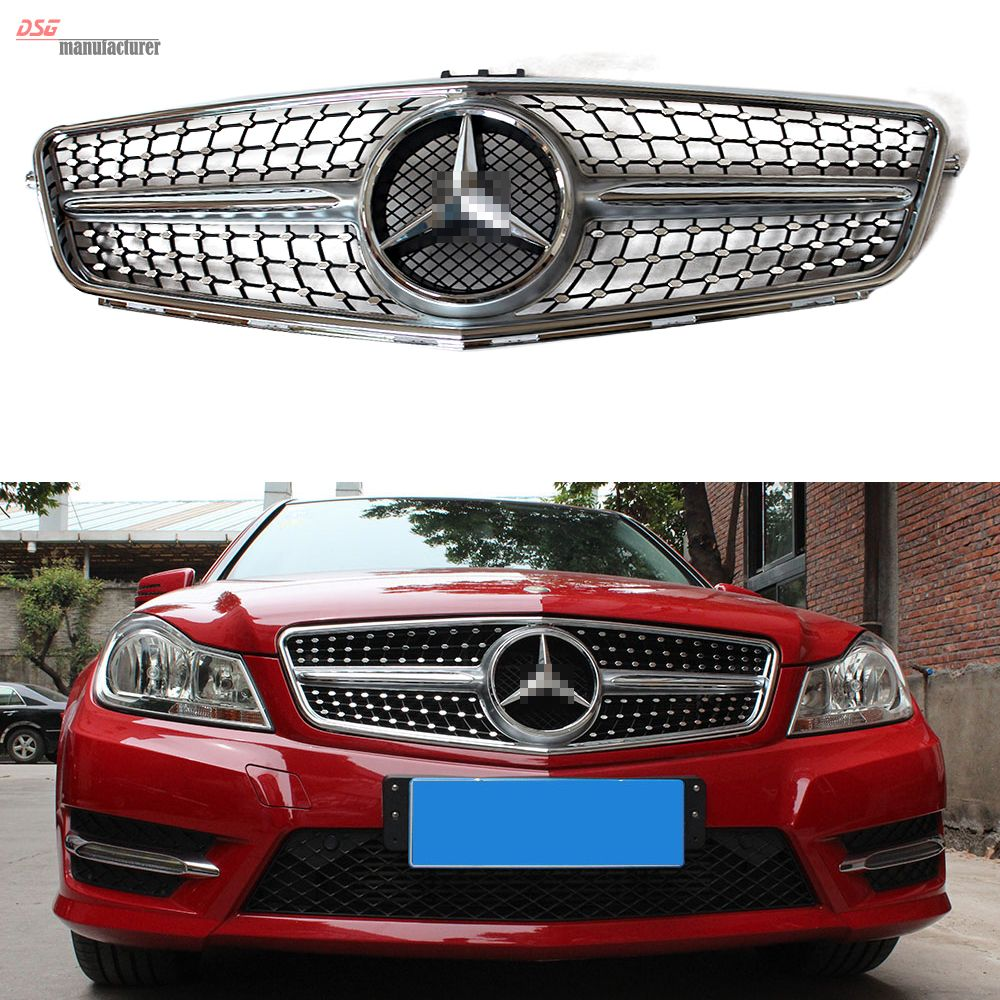 Black bison edition tuning package for the w204 mercedes benz c class - All Chrome Diamonds Star Grill For Your Beloved W204 Sedan Coupe Wagon At Only