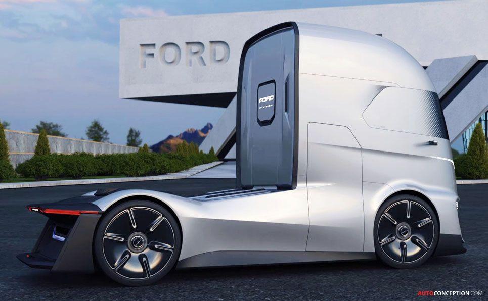 Ford Reveals Futuristic 'F-Vision' Autonomous Truck