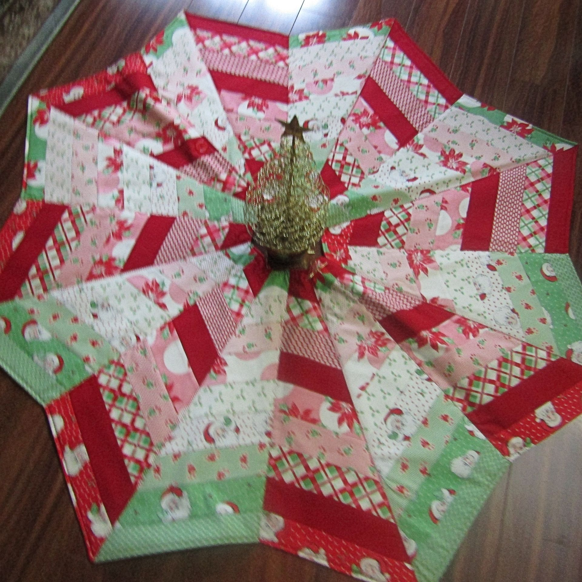Star Christmas Tree Skirt, Red, White, Green(画像あり) クリスマス, 小物