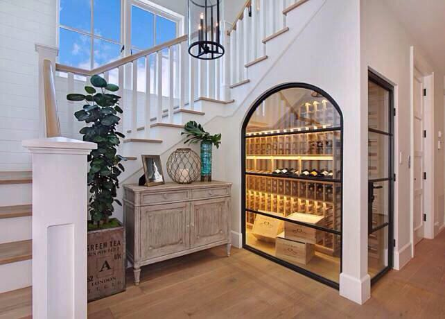 Gorgeous under the stairs wine cellar