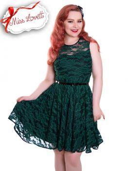 ESTELLE_08 Kleid aus Spitze Grün/Schwarz Hochzeitskleid ...