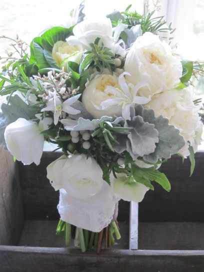 Bouquet sposa invernale bianco