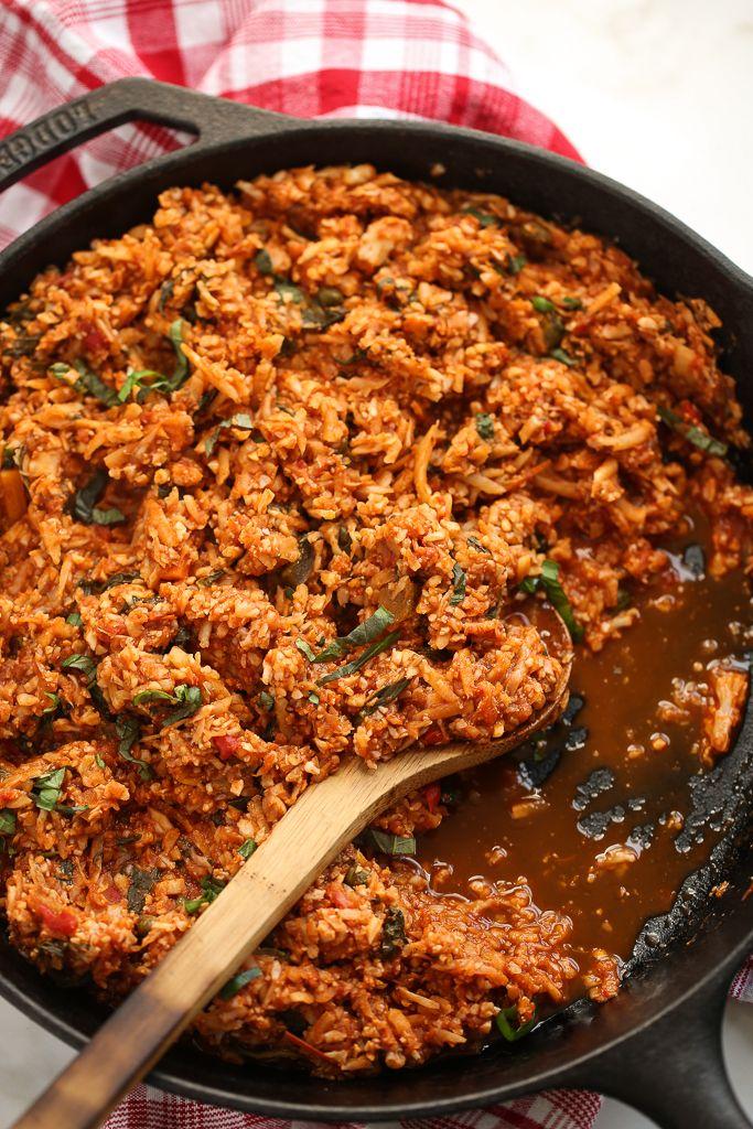 Italian Style Cauliflower Rice