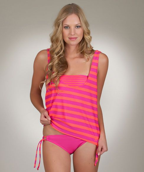 71f23180b123a Hurley Surfside Stripe Tankini Twofer and Tunnel Side Bottom LOVE ...