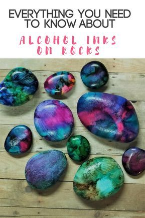 Beginner's Guide to using Alcohol Inks on Rocks