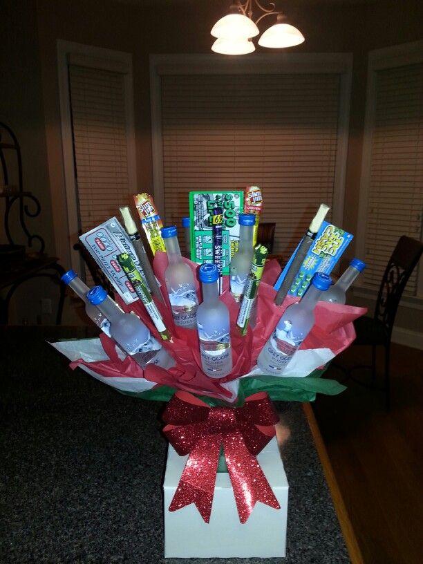 Grey Goose Vodka Mini Bottles Bouquet 1 Of Kind Bouquets