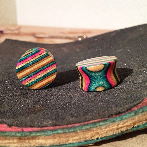 Recycled #Skateboard #plugs