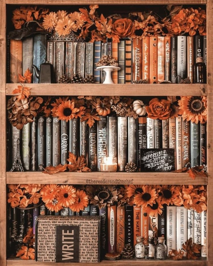 My bookshelves will never be this autumn aesthetic