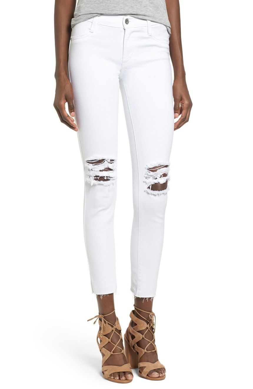 f3a7a42726d2e9 Enjoy the classic look of five-pocket denim with a figure-flaunting fit in  these soft and stretchy ankle-cropped leggings.