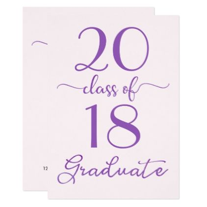 Violet Pink Class Of Custom Year Graduation Card  Graduation Cards