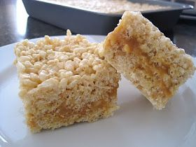 Sweet Escape: Caramel Filled Rice Krispie Bars