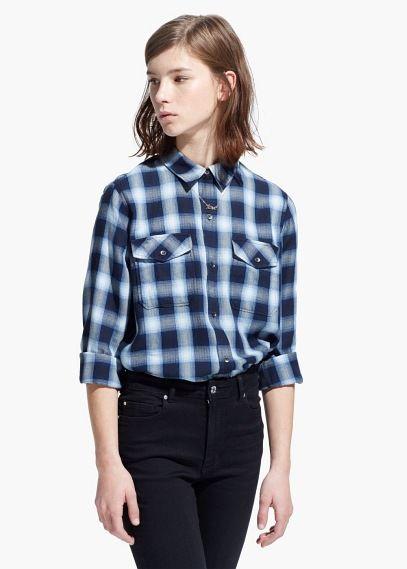 Camisa quadrados | MANGO