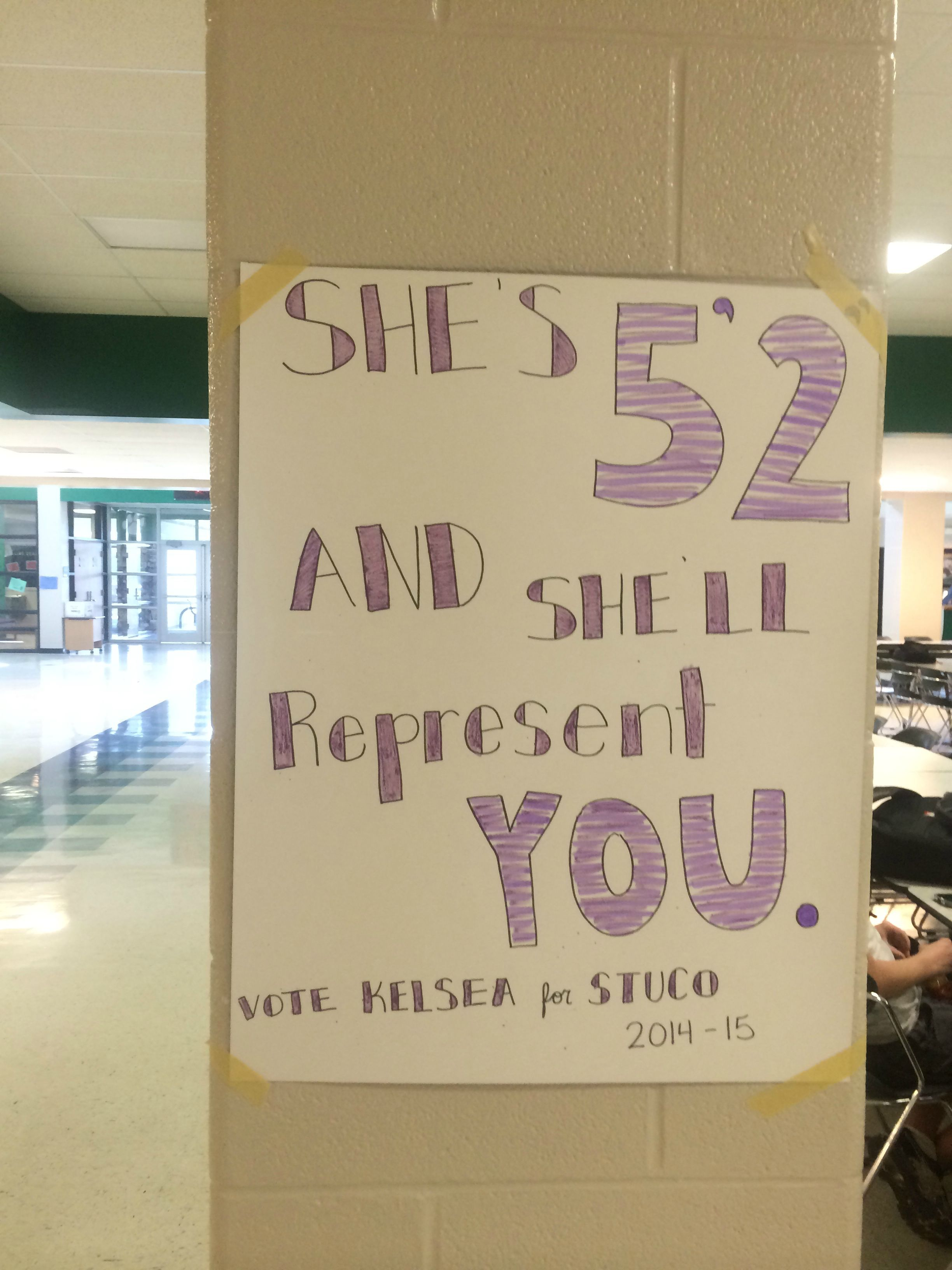 So my school is holding elections for student council ...